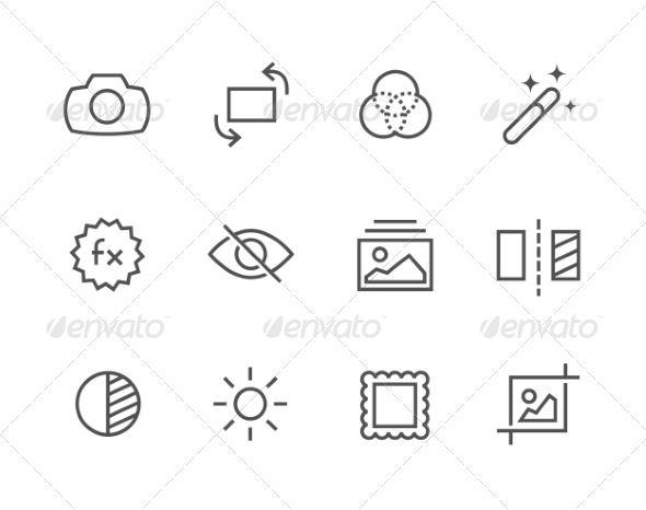GraphicRiver Outline Image Editing Icons 7795130