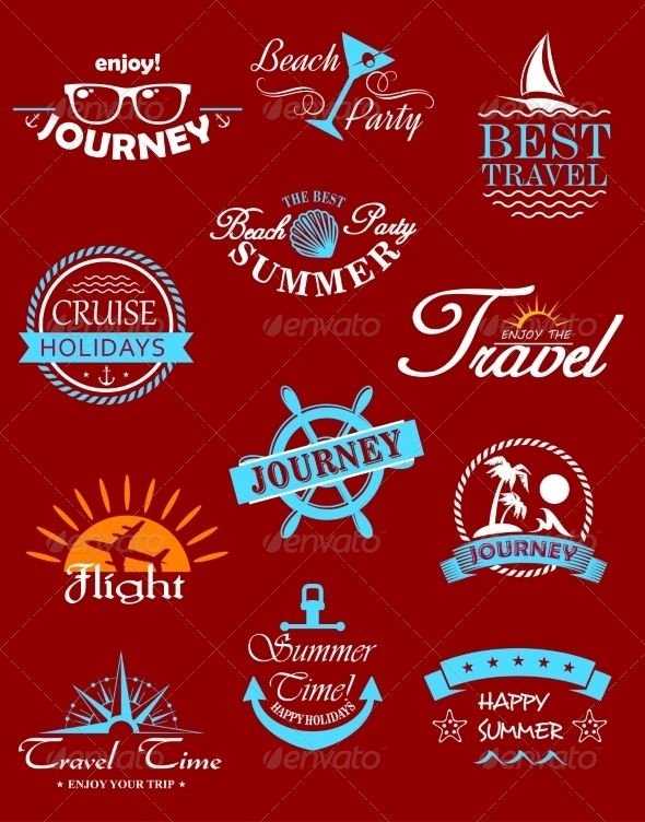 GraphicRiver Travel Banners and Labels 7795310