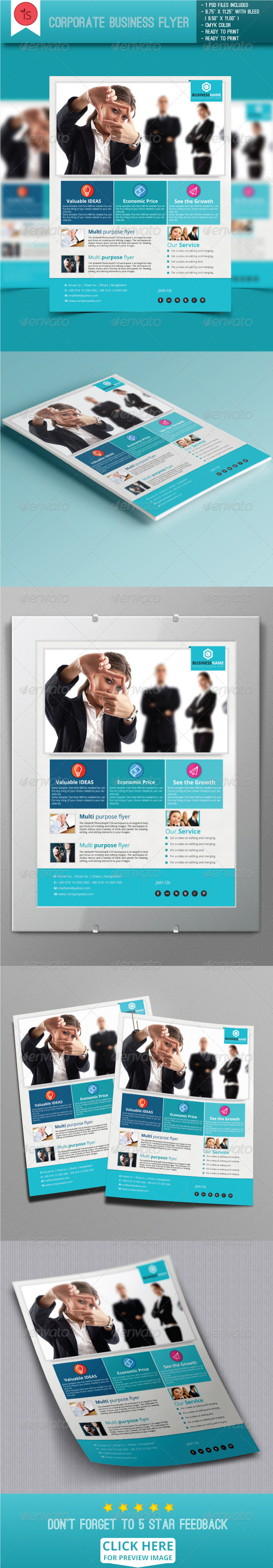 GraphicRiver Corporate Business Flyer 7795332