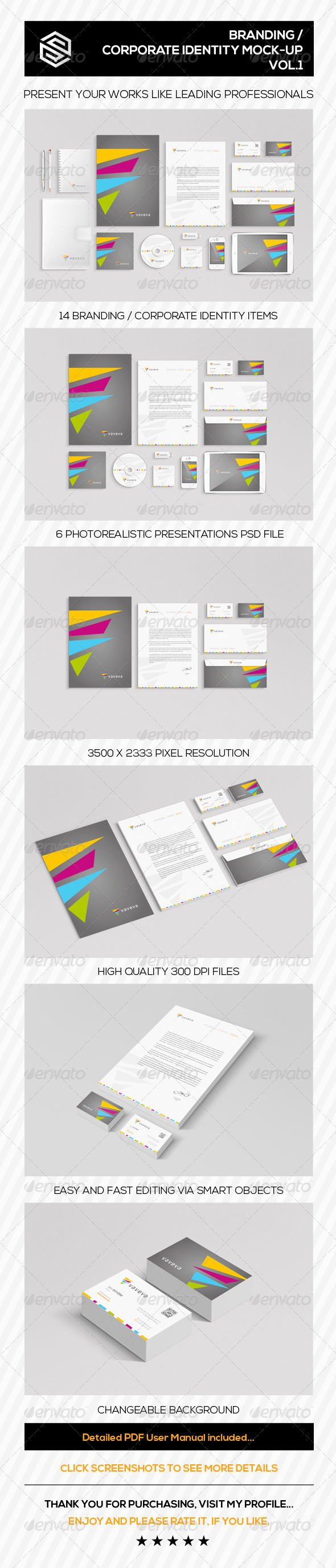 GraphicRiver Branding Corporate Identity Mock-Up Vol.I 7795530