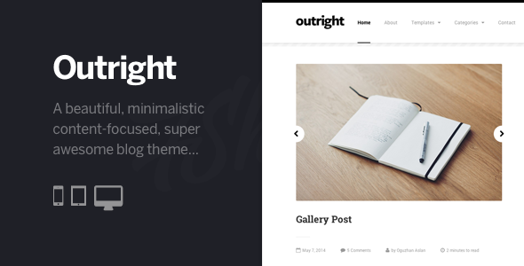 ThemeForest Outright WordPress Responsive Blog Theme 7750329