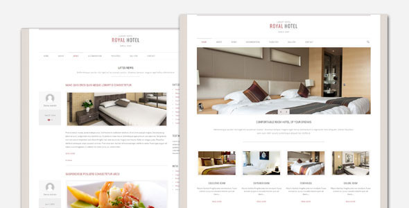 Royal Hotel and Resort WordPress Theme