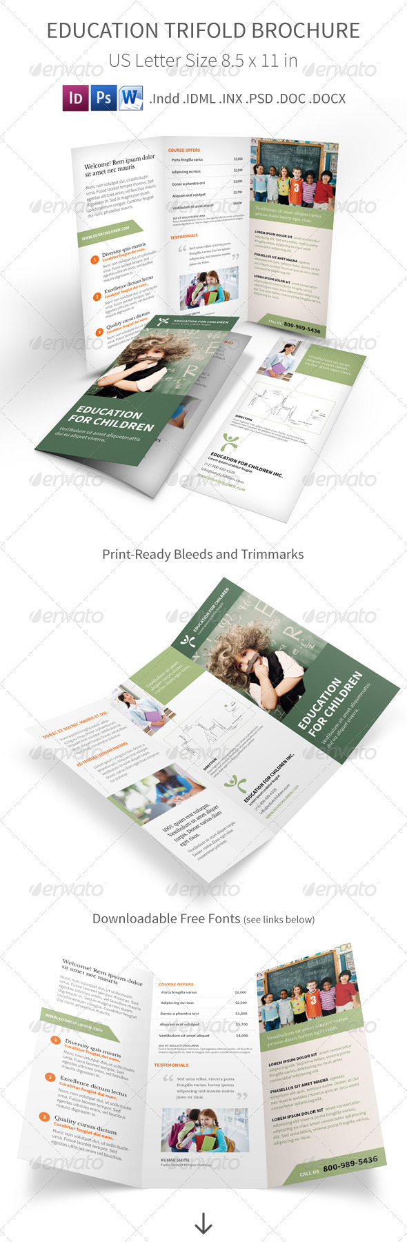 GraphicRiver Education Trifold Brochure 7795601