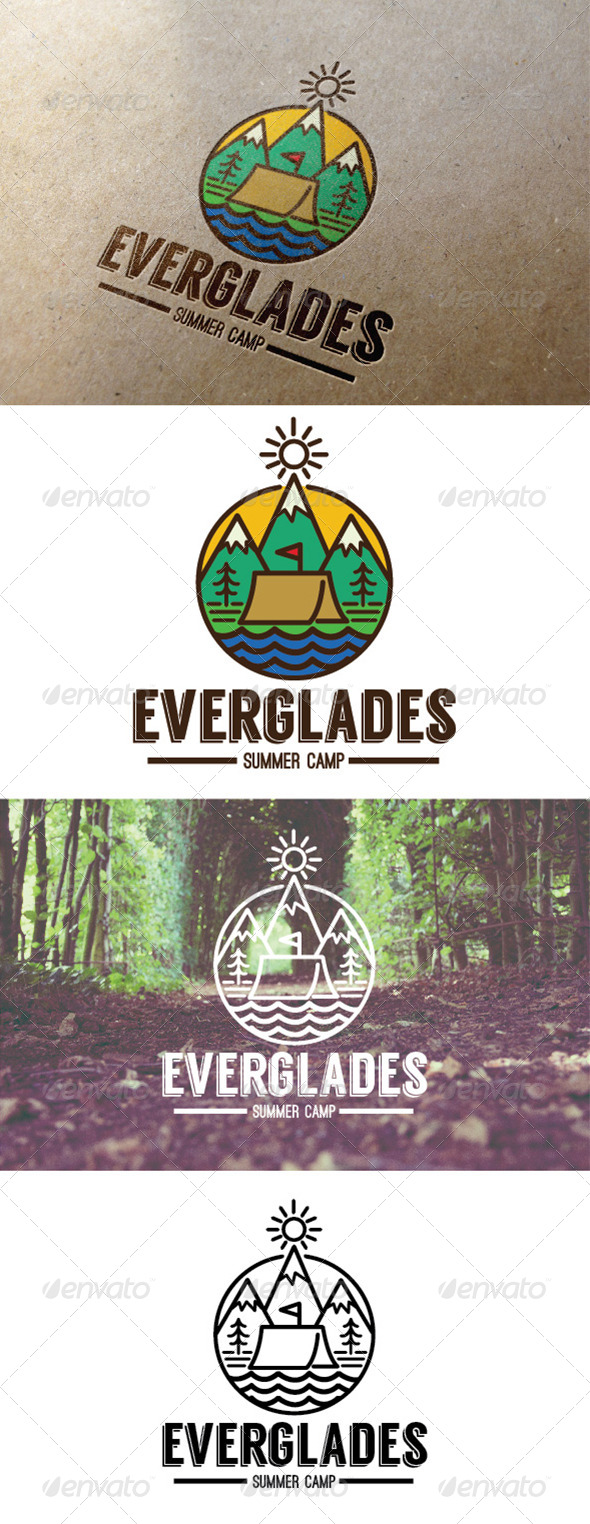GraphicRiver Summer Camp Everglades Logo 7795684