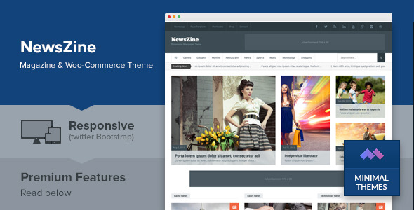 NewsZine - Responsive Multipurpose Newspaper Theme