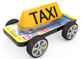 Taxi sign and Smartphone on wheels - PhotoDune Item for Sale