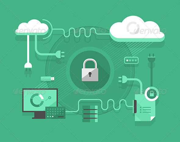 GraphicRiver Secure Cloud Computing 7795742