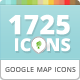 115 Unique Maps Icons for Business Finder WP Theme - GraphicRiver Item for Sale
