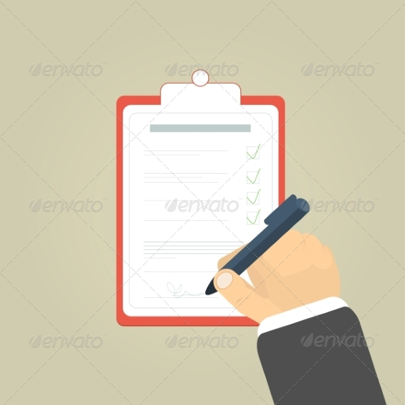 GraphicRiver Businessman Holding a Clipboard 7795827