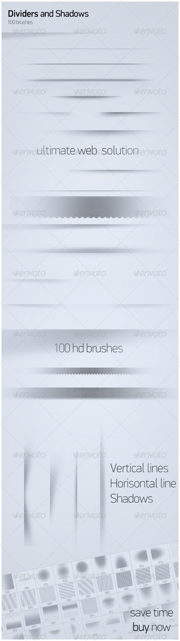 GraphicRiver 100 Shadows and Dividers 7795885