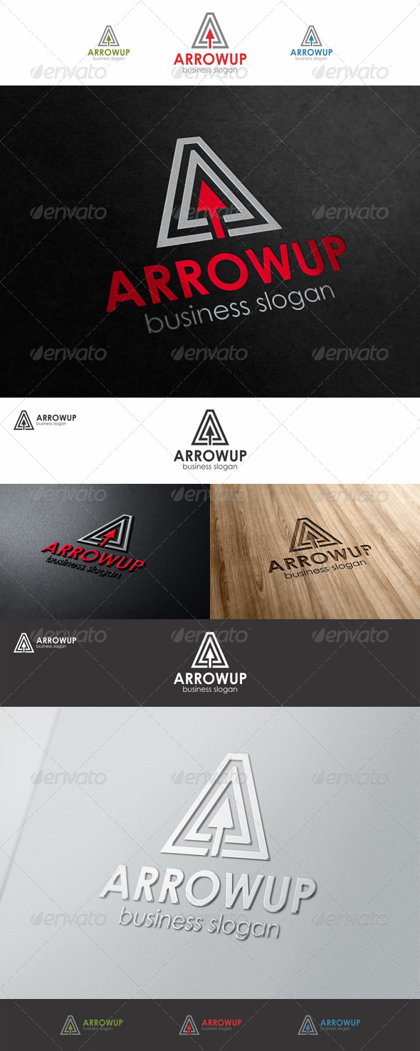 Arrow Up A Business Logo - Letters Logo Templates