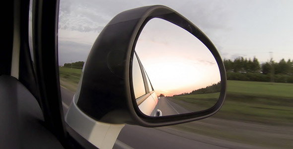 Moving Car Mirror