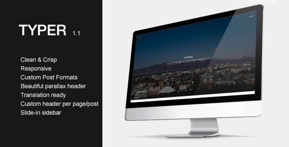 Typer - Striking Blogging Theme - Personal Blog / Magazine