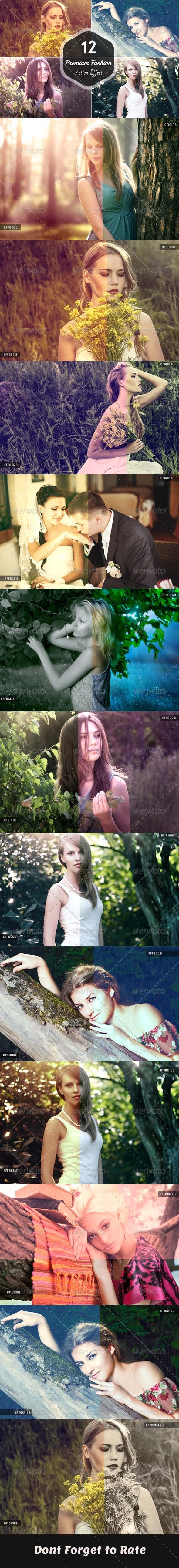 GraphicRiver 12 Premium Fashion Photoshop Action 7796094