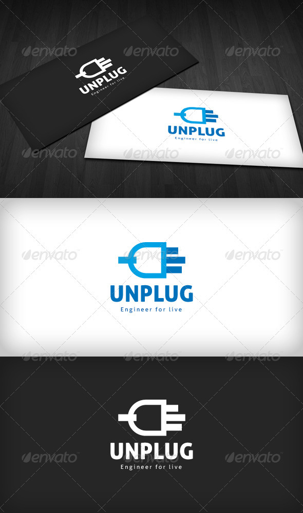 Unplug Logo - Objects Logo Templates