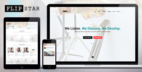 Flipstar Creative Business WordPress Theme - Business Corporate