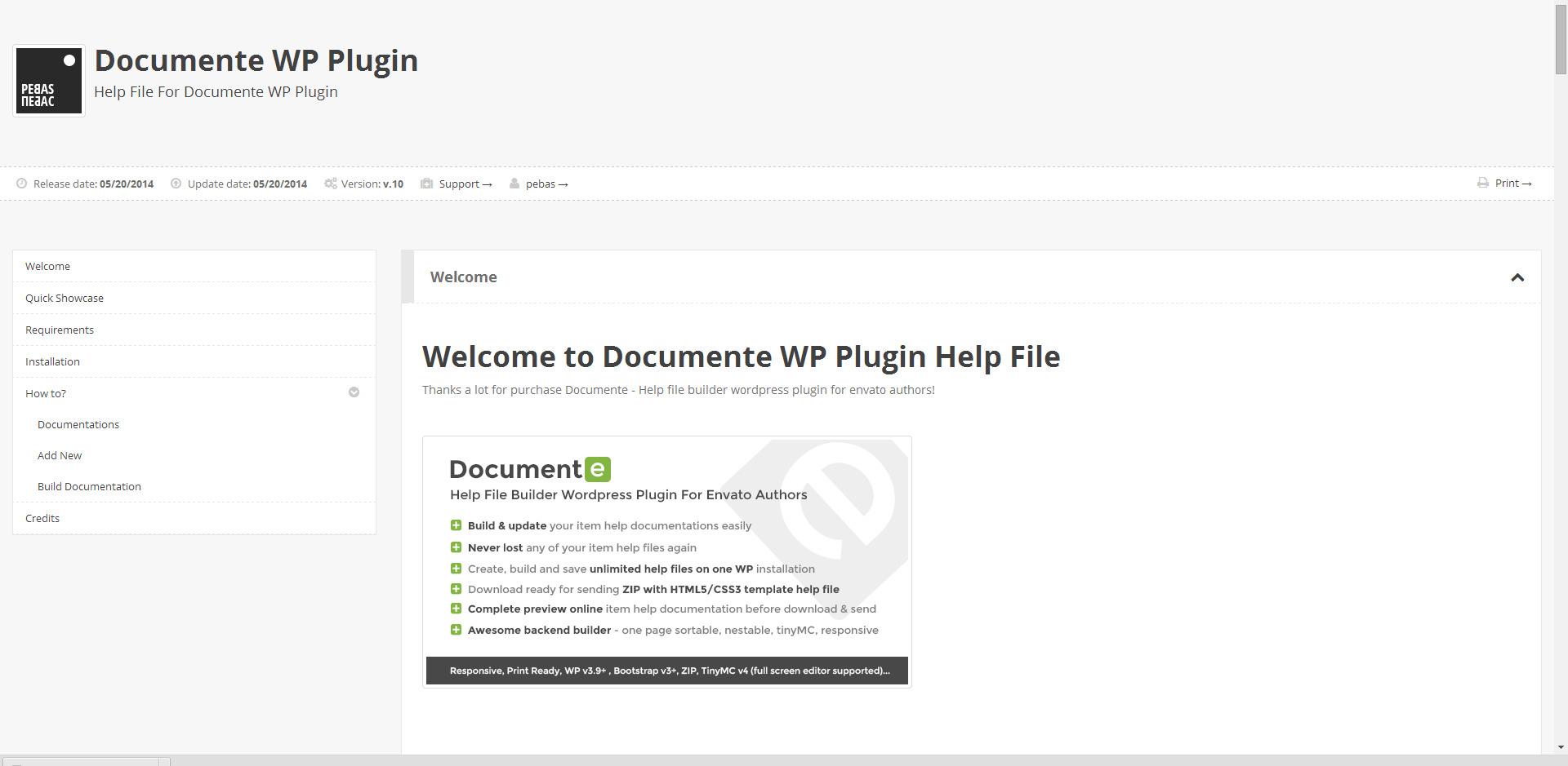 documente help documentation builder by pebas codecanyon documente help documentation builder