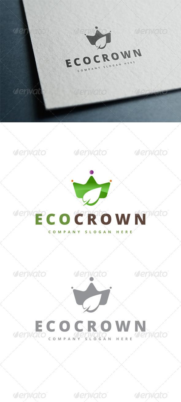 GraphicRiver Eco Crown Logo 7796676