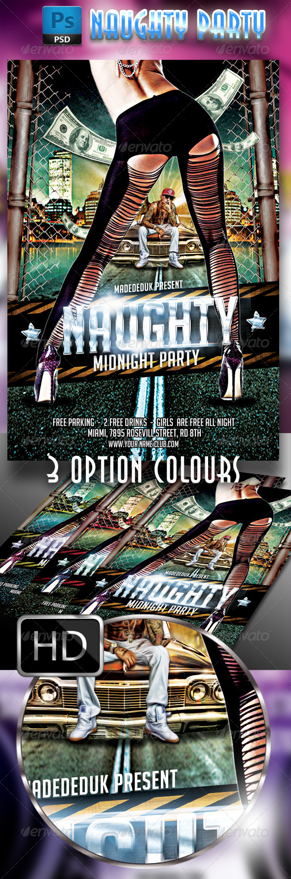 GraphicRiver Naughty Party Flyer 7796729