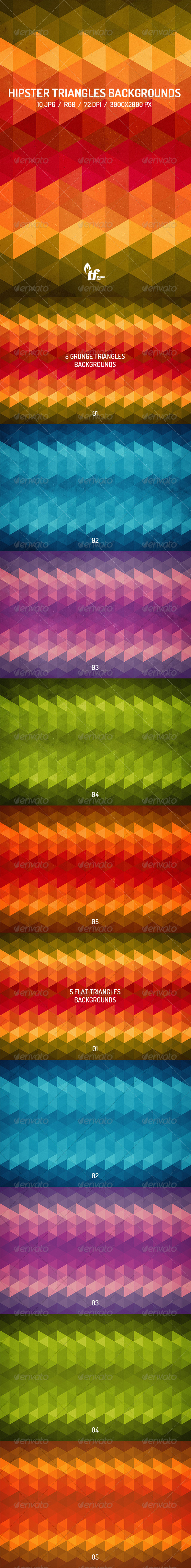 GraphicRiver Hipster Triangles Backgrounds 7796833