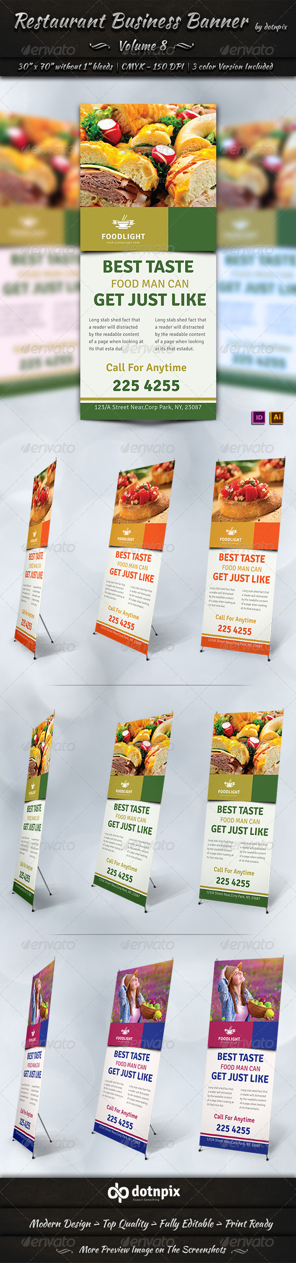 GraphicRiver Restaurant Business Banner Volume 8 7796837