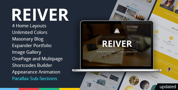 REIVER - WordPress One Page Responsive Portfolio