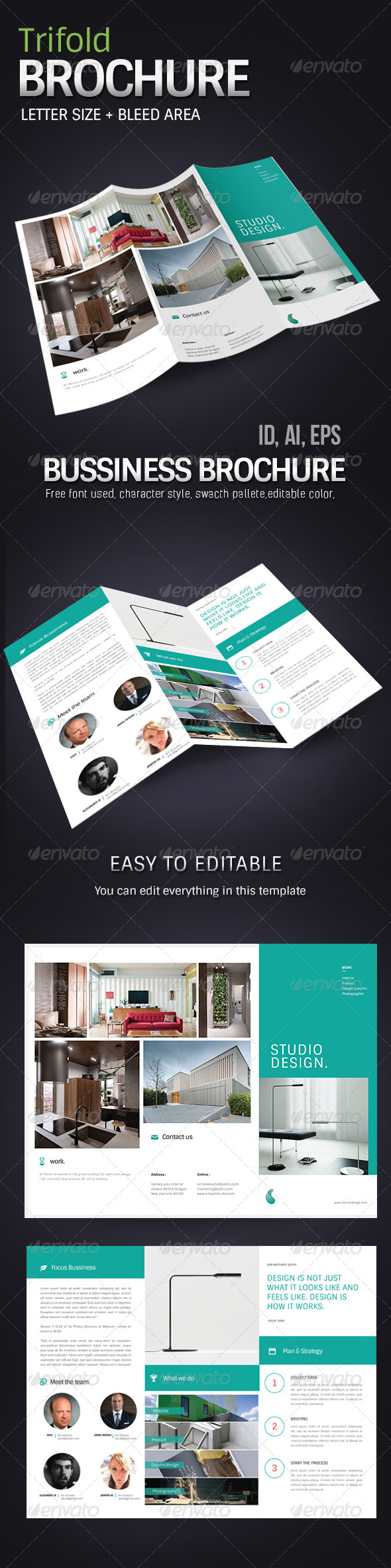 GraphicRiver Simple Corporate Business Brochure 7796847