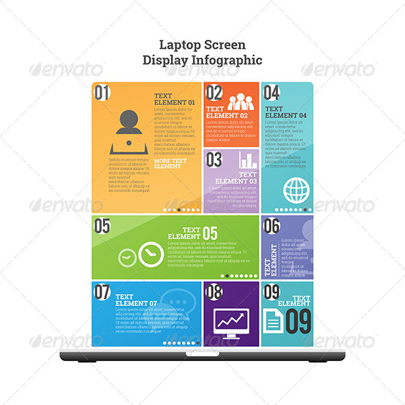 GraphicRiver Laptop Screen Display Infographic 7797136