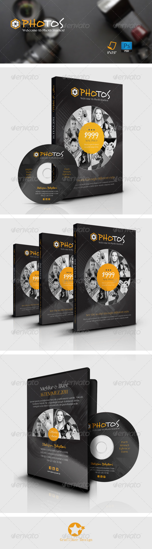 GraphicRiver Photography Dvd Cover Templates 7797282
