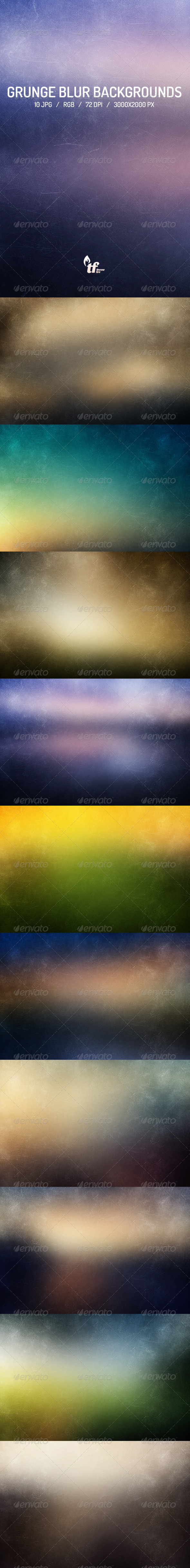 GraphicRiver 10 Grunge Blur Backgrounds 7797608