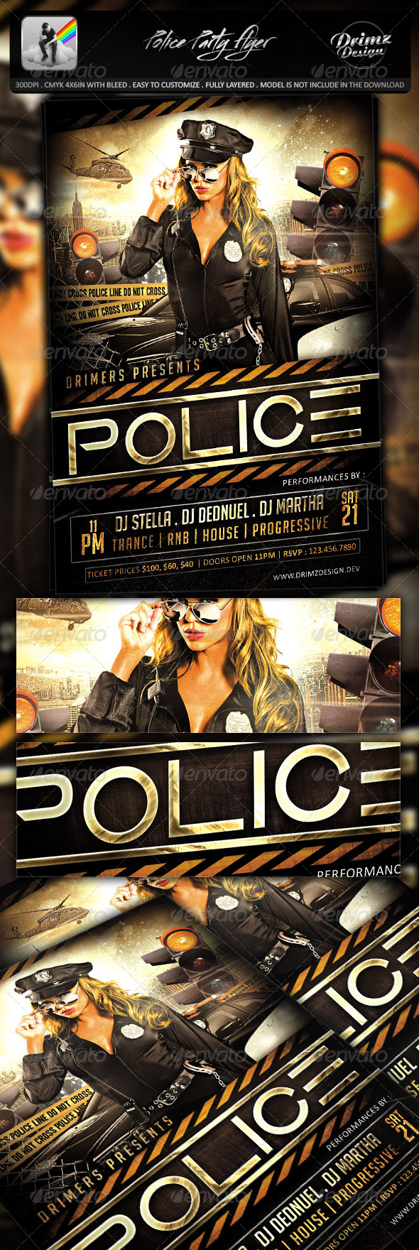 GraphicRiver Police Party Flyer 7797731