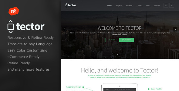 Tector - Muti-Purpose WordPress Theme - Business Corporate