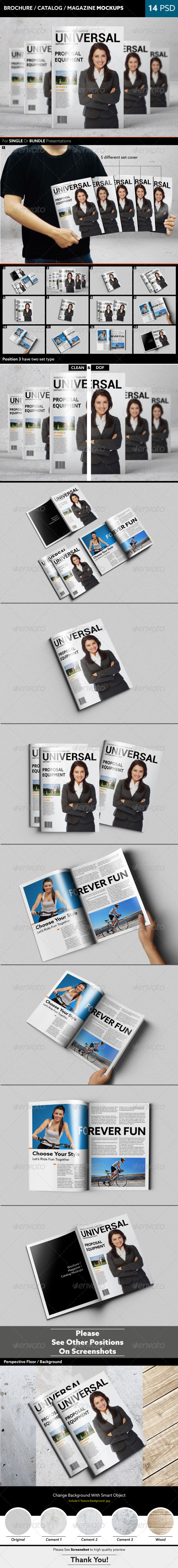 GraphicRiver Brochure Catalog Magazine Mockups 7797771