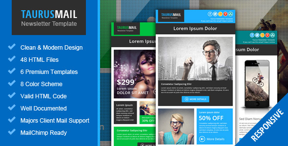 Taurus - Metro Responsive Newsletter Template - Email Templates Marketing