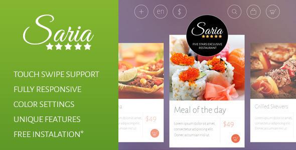 ThemeForest Saria Shop Flat Responsive Shopify Theme 7755592