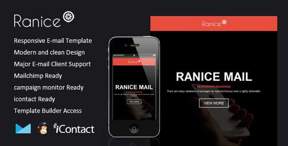 Ranice - Responsive Email + Themebuilder Access - Email Templates Marketing