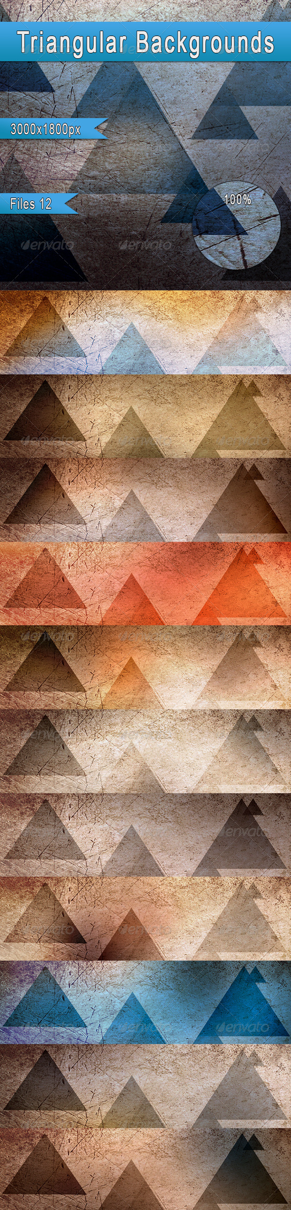 GraphicRiver Triangular Backgrounds 7798311