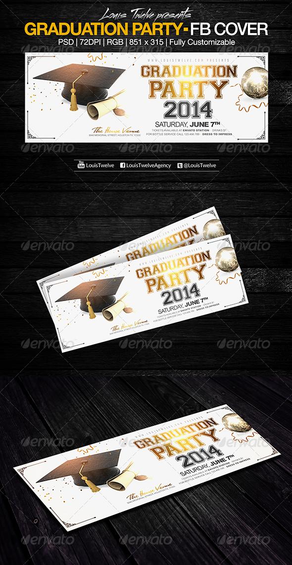 GraphicRiver Graduation Party Facebook Cover 7798342