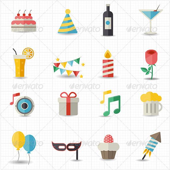 GraphicRiver Celebration Icons 7798343