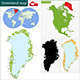 Greenland Map - GraphicRiver Item for Sale