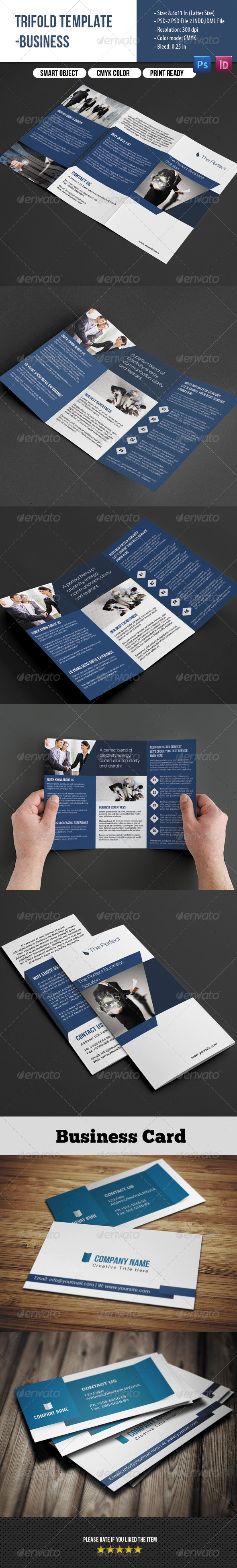 GraphicRiver Business Trifold&Business Card 7782487