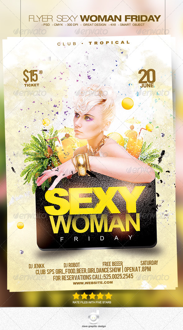 Flyer Woman Friday - Clubs & Parties Events
