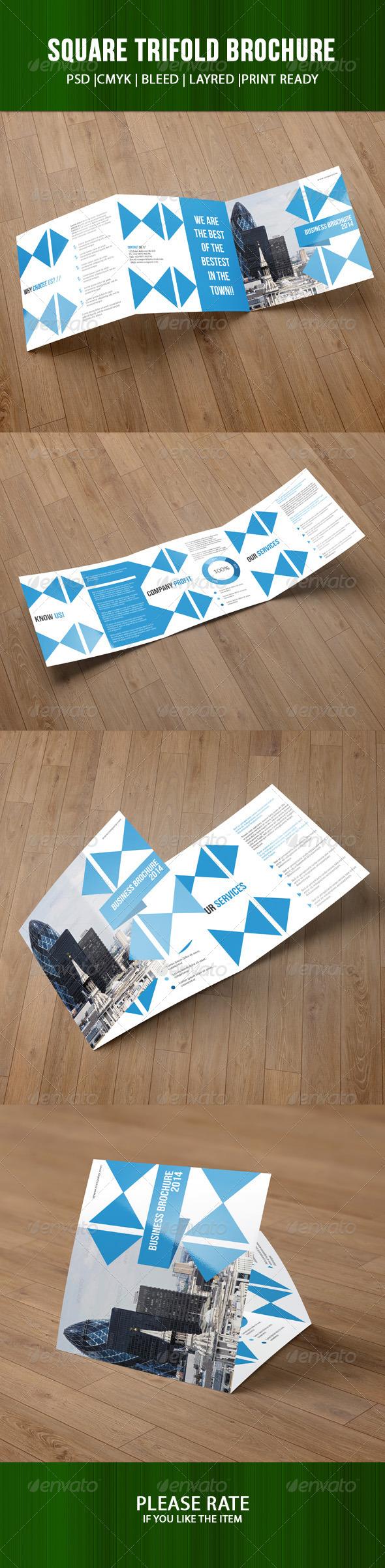 GraphicRiver Square Trifold Business Brochure-V02 7798563