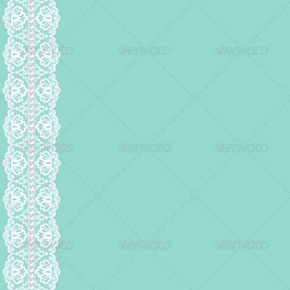 GraphicRiver Lace Ribbon and Pearls 7798674