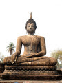 Temple Buddha Statue  in Sukhothai Historical Park,Thailand - PhotoDune Item for Sale