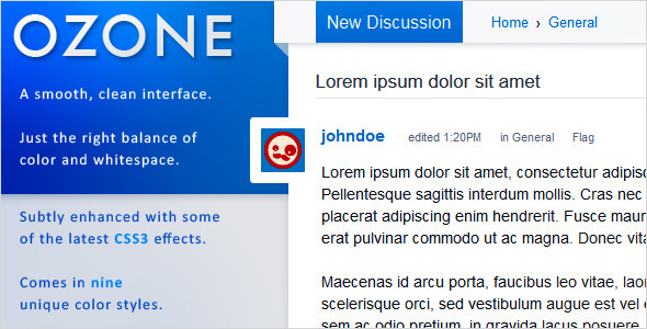 OZONE - Premium Vanilla 2 Theme - Vanilla Forums