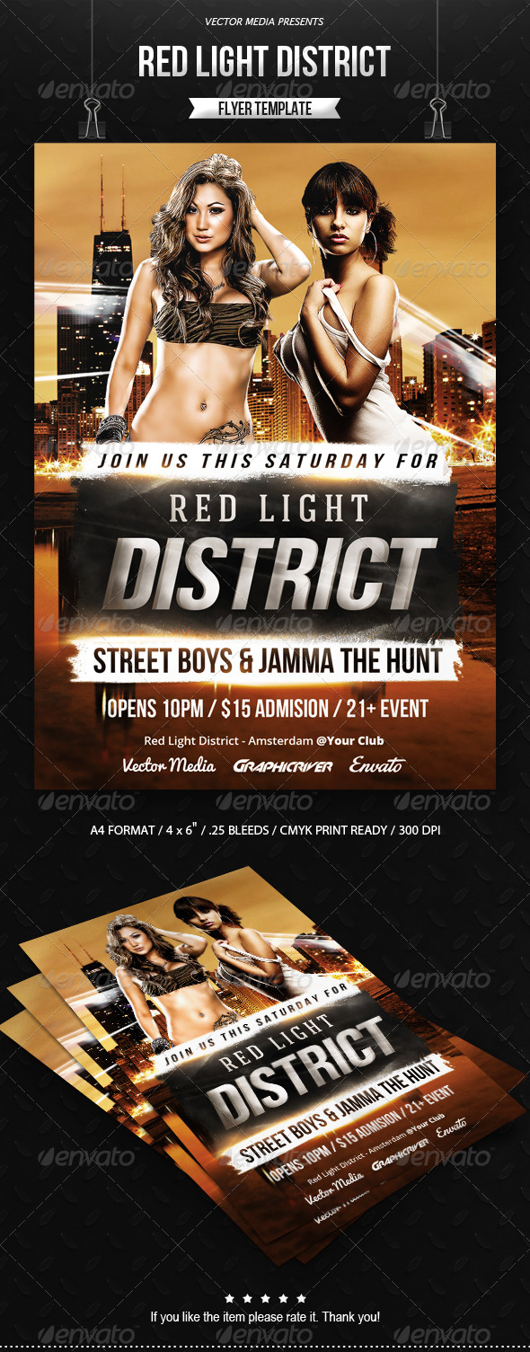 GraphicRiver Red Light District Flyer 7799023