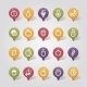 Fruits Mapping Pins Icons - GraphicRiver Item for Sale