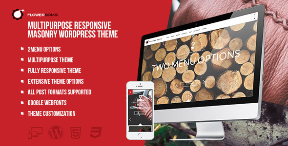 FlowerBomb - Multipurpose Responsive Masonry Theme - Creative WordPress