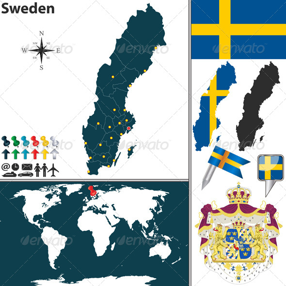 GraphicRiver Map of Sweden 7799154